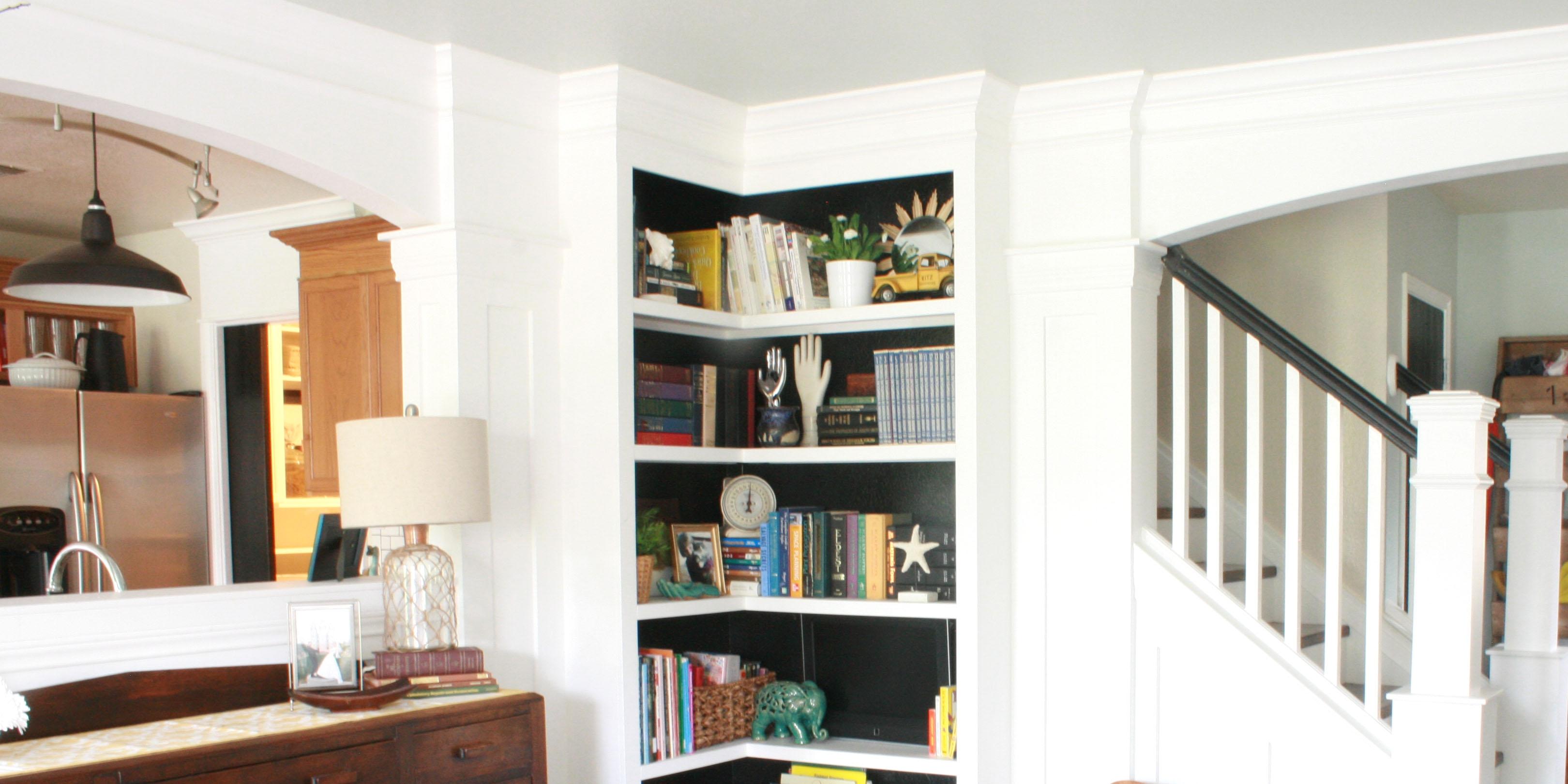Build Your Own Corner Bookshelves Inside Corner Bookcase (#5 of 15)