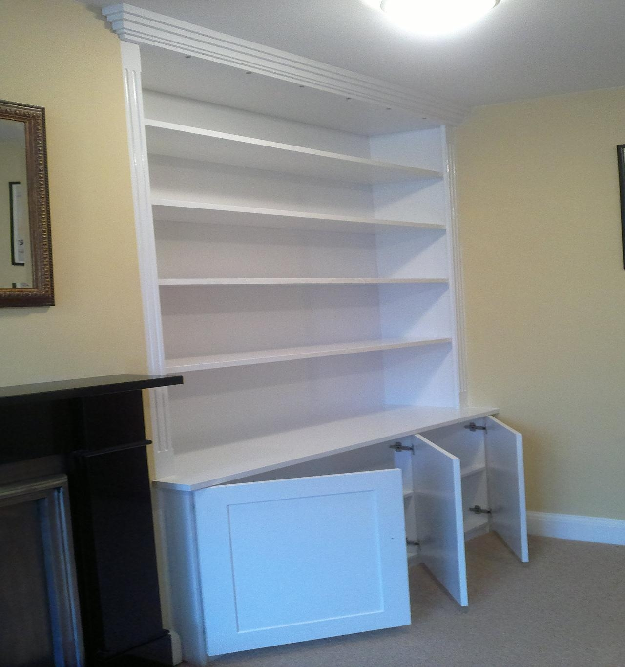 Built In Alcove Units Bookcases Wood Fairy Restorations Within Alcove Bookcases (#6 of 15)