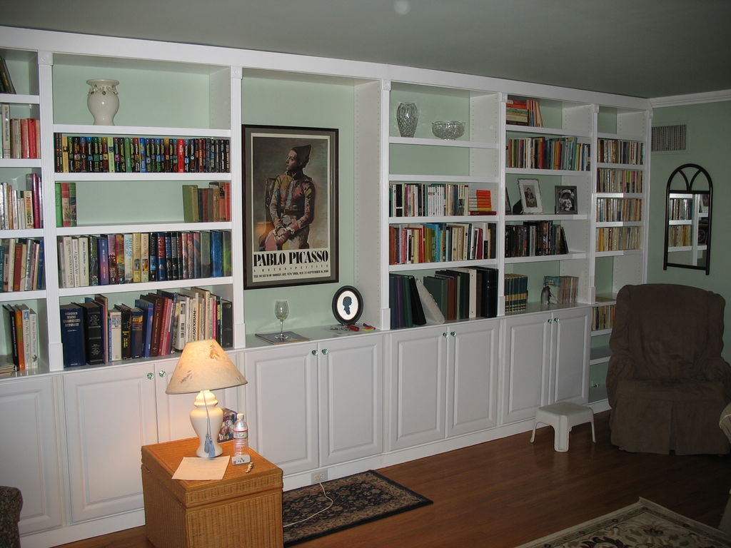 Built In Book Cases 5 Steps With Pictures Inside Built In Bookcase Kit (#2 of 15)