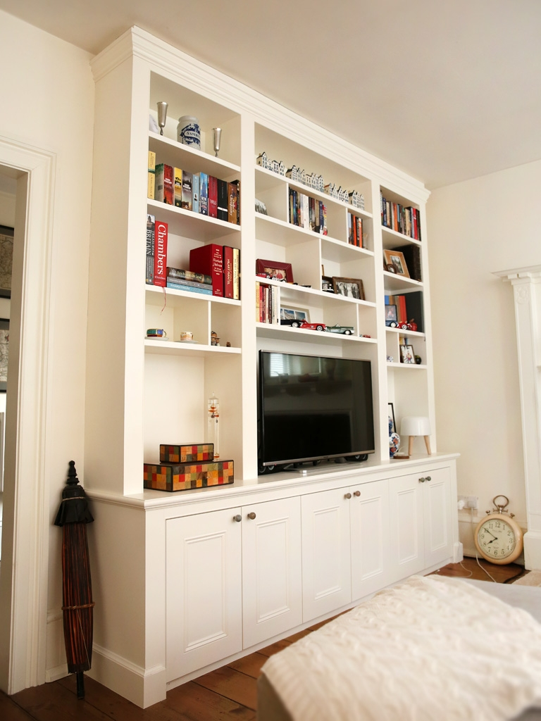 Built In Bookshelves Bespoke Bookcases London Furniture Artist Inside Classic Bookshelves (#5 of 15)