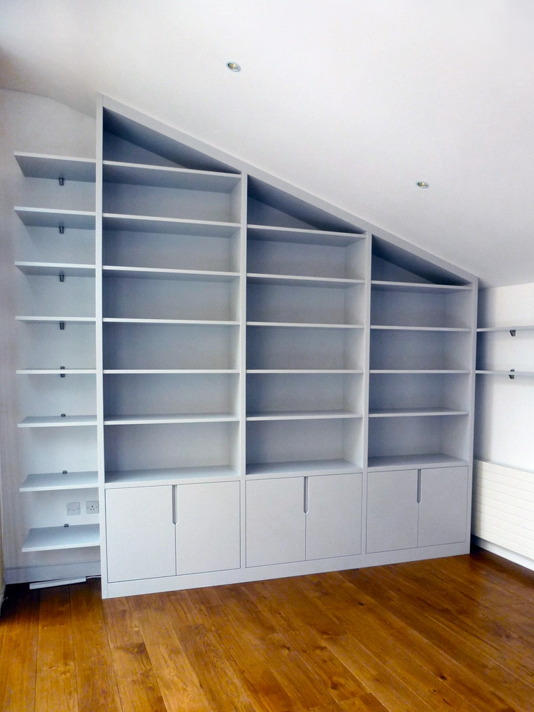 Built In Bookshelves Bespoke Bookcases London Furniture Artist Within Fitted Bookcases (#8 of 15)