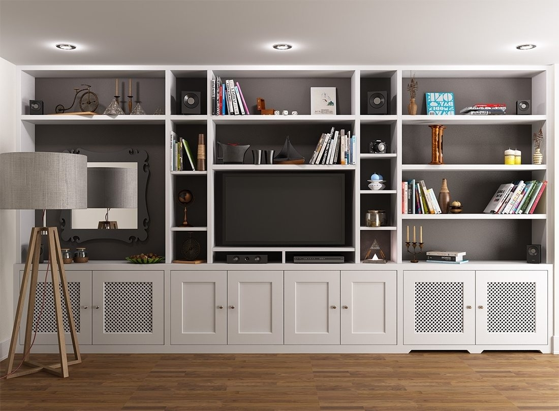 Built In Bookshelves With Tv American Hwy In Built In Bookcases With Tv (#6 of 15)
