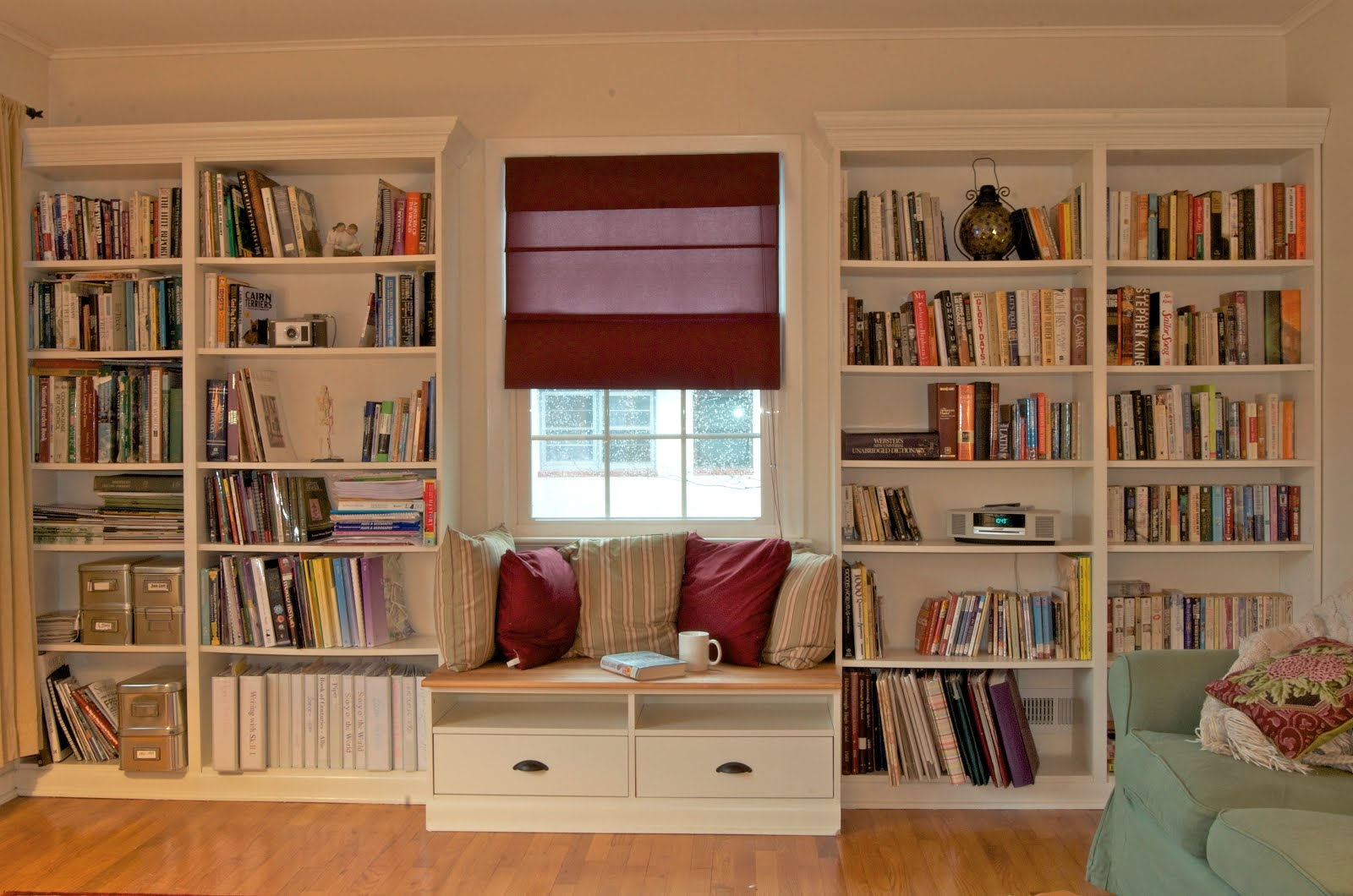 Built In Bookshelves With Window Seat For Under 350 Ikea With Bookshelves (#10 of 15)