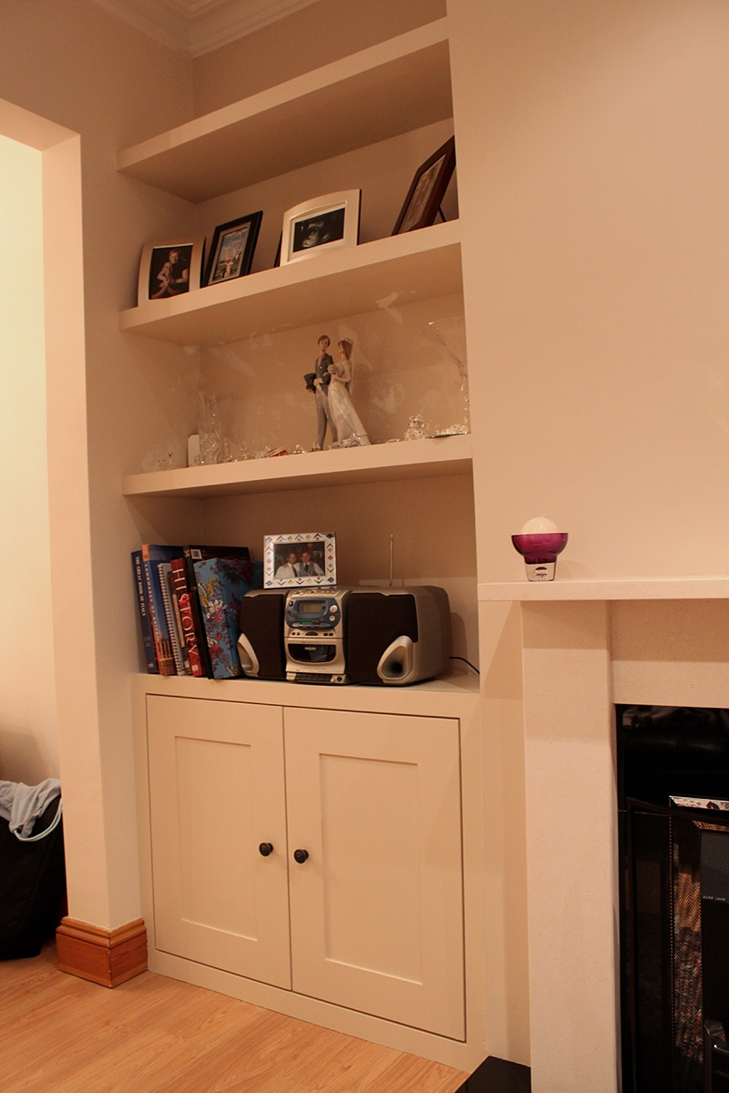 Built In With Simple Shaker Doors Kindra Pinterest Shaker Regarding Fitted Shelves And Cupboards (View 3 of 12)