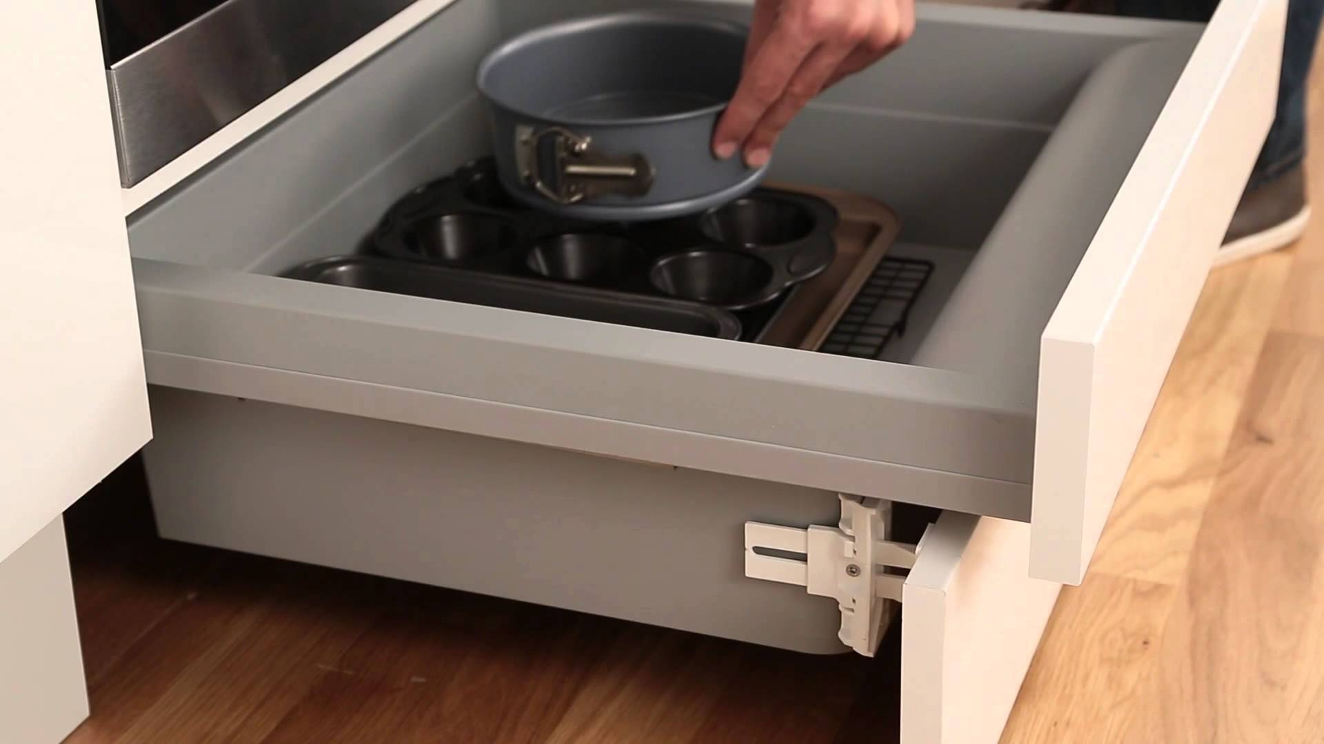 Built Under Oven Housing Storage Drawer From Howdens Joinery Youtube Inside Plinth Drawer (#2 of 15)