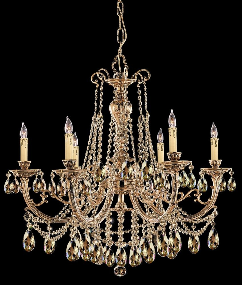 Buy 12 Lights Cast Brass Crystal Chandelier Inside Brass And Crystal Chandeliers (#4 of 12)