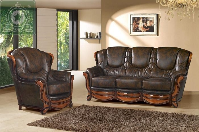 Buy High Quality Living Room Furniture European Antique Leather Within European Leather Sofas (#3 of 15)