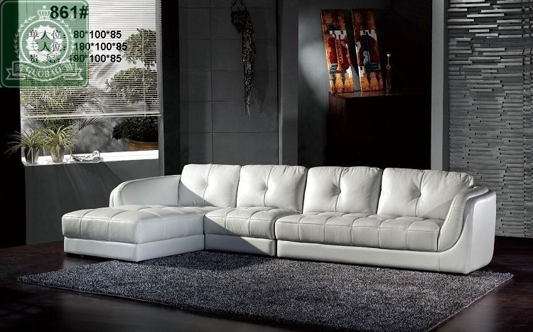 Buy High Quality Living Room Furniture European Modern Leather Pertaining To European Leather Sofas (#4 of 15)