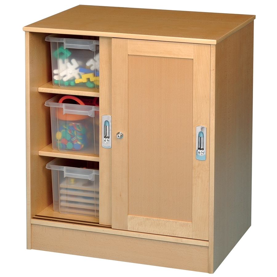 Buy Medium Beech Lockable Storage Cupboard Tts Intended For Large Storage Cupboards (#3 of 12)