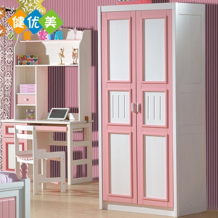 Buy Two Beautiful Healthy Children Pine Wood Wardrobe Closet Throughout Childrens Pink Wardrobes (View 15 of 15)