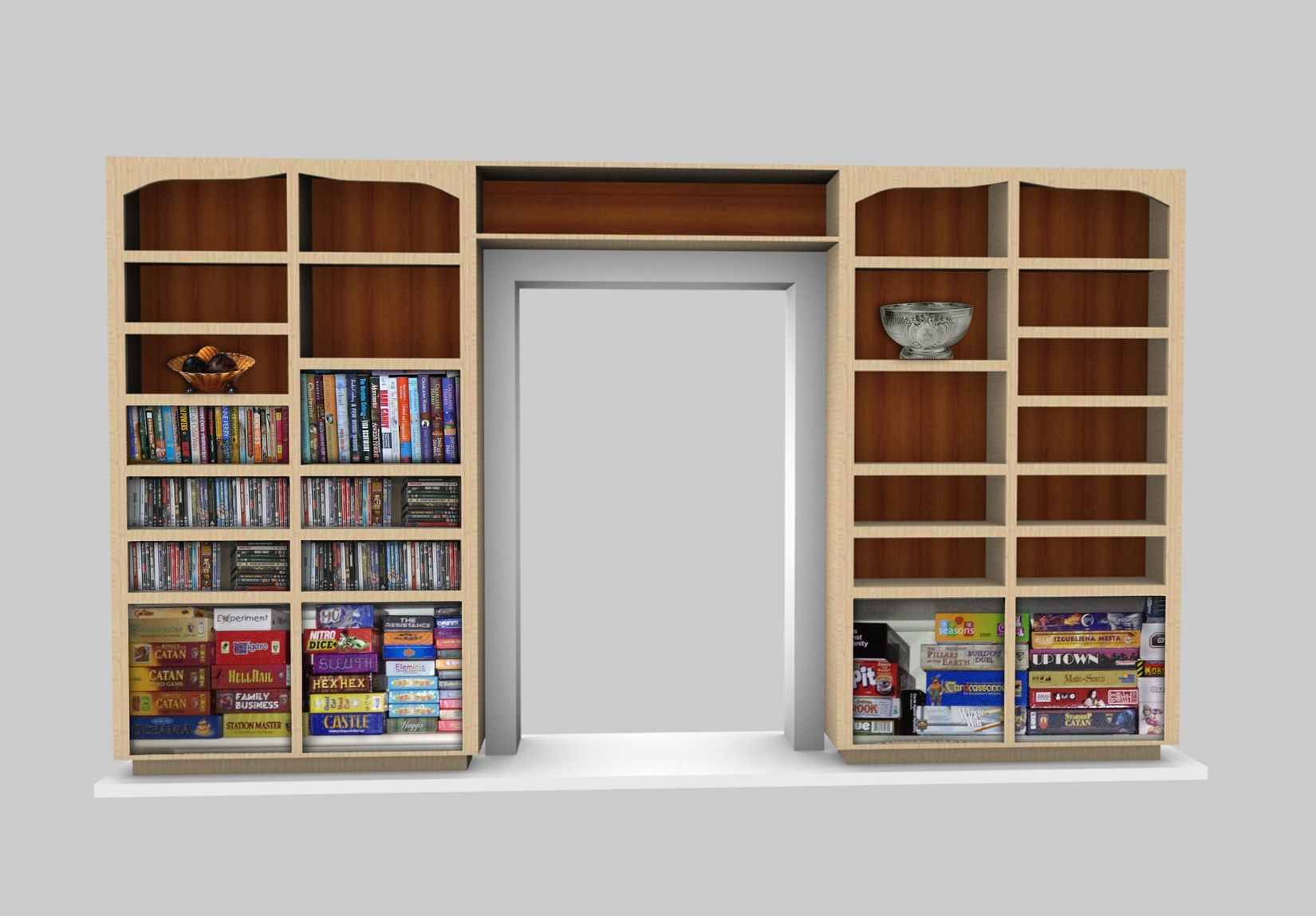 Cabinet Design Software Sketchlist 3d Rendering Very Realistic In Book Cabinet Design (View 4 of 15)