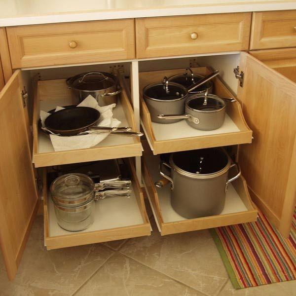 Cabinets Will Have Pull Out Drawers For Easy Access To Pots Pans For Storage Racks For Kitchen Cupboards (#7 of 15)