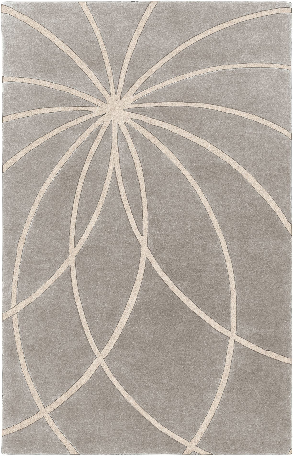 Cado Modern Furniture Fm7184 Modern Area Rug With Grey Solid Color Background Asymetrical Pattern Moroccan Style Design Made From Wool With Modern Wool Area Rugs (#6 of 15)