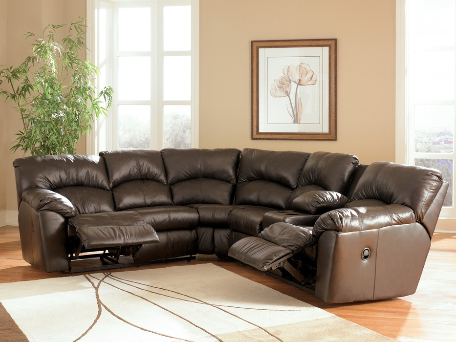 Calvin Sofa Sectional Set Leather Couch Ottoman S3net Regarding Leather Sofa Sectionals For Sale (#5 of 15)