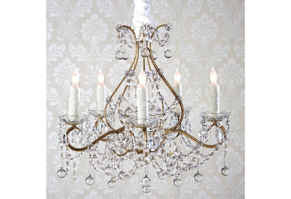 Candle Holder Chandelier Shab Chic In Country Chic Chandelier (#5 of 12)