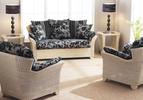 Cane Industries Arona Fabric Cane Sofas Chairs Cane Tables Regarding White Cane Sofas (#9 of 15)