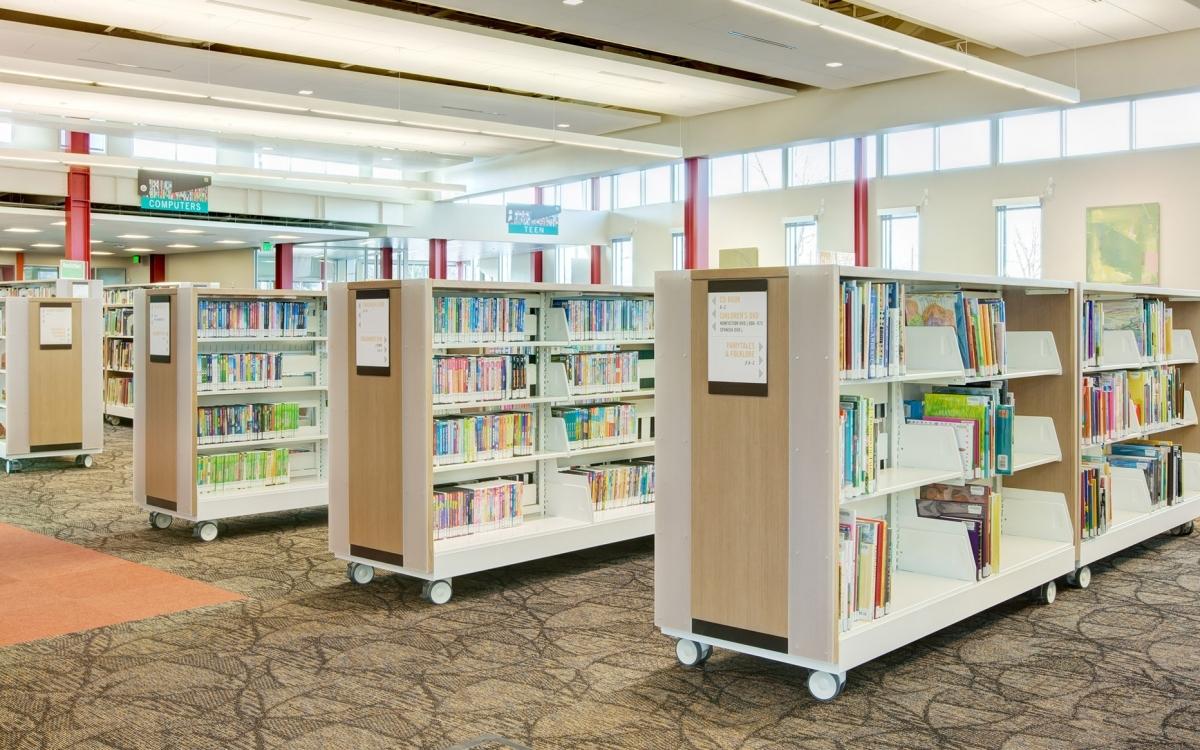Cantilever Library Shelving Spacesaver Corporation Regarding Library Shelfs (View 7 of 15)