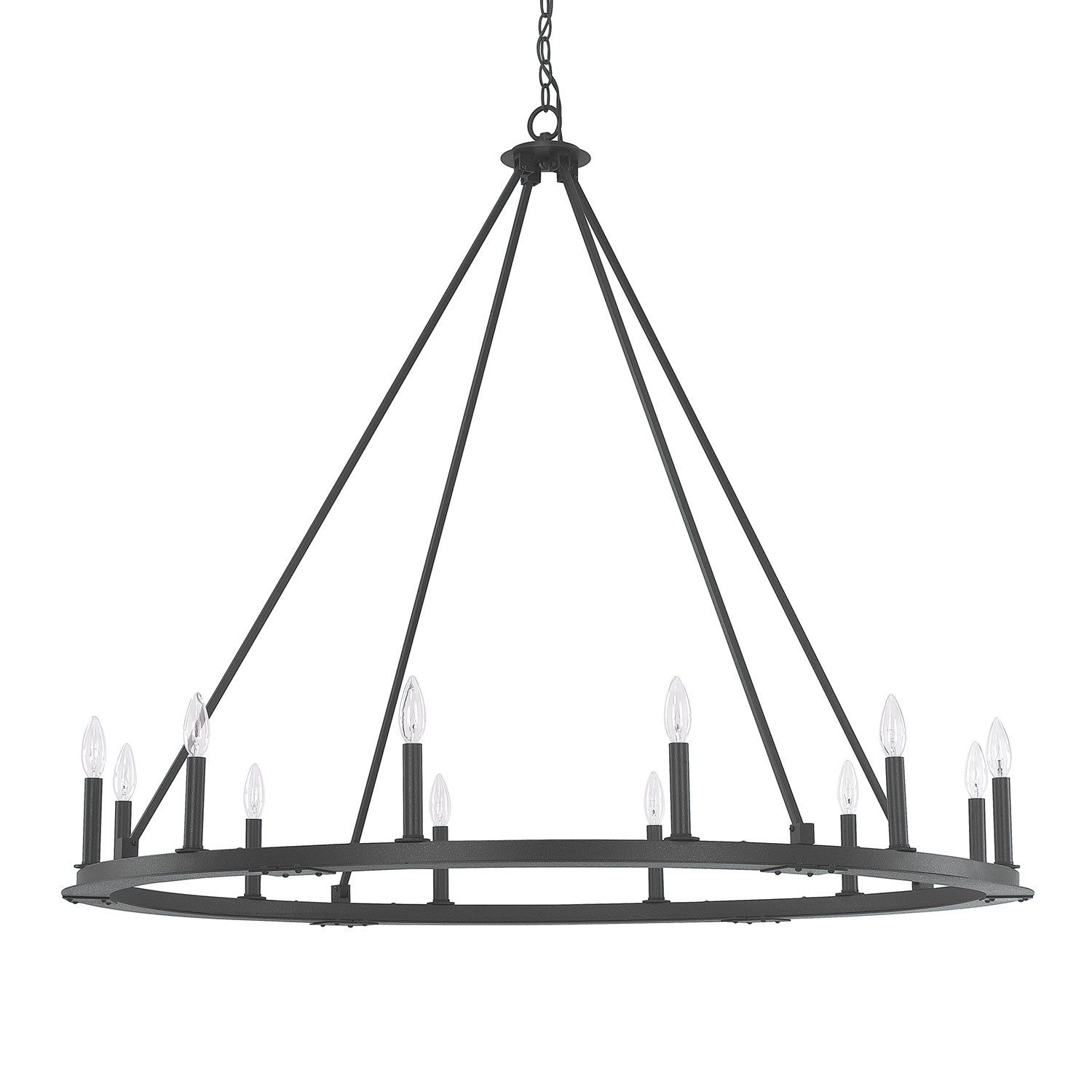 Capital Lighting Fixture Company Pearson Black Iron Twelve Light With Iron Chandelier (#3 of 12)