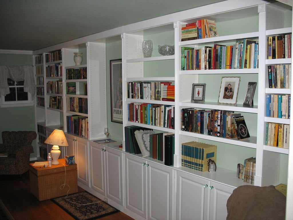 Captivating Pictures Of Book Shelves With Wooden Bookshelves And Intended For Bookshelf With Cabinet Base (#8 of 15)