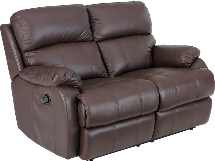 Carla 3 Seat Leather Sofa Furniture Sofas Dining Beds Within 2 Seater Recliner Leather Sofas (View 3 of 15)