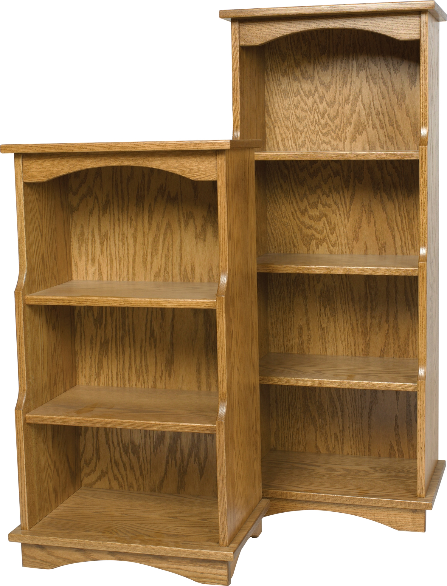 Carlisle Oak Bookcases And Cabinets Page 1 Pertaining To Oak Bookshelves (#2 of 15)