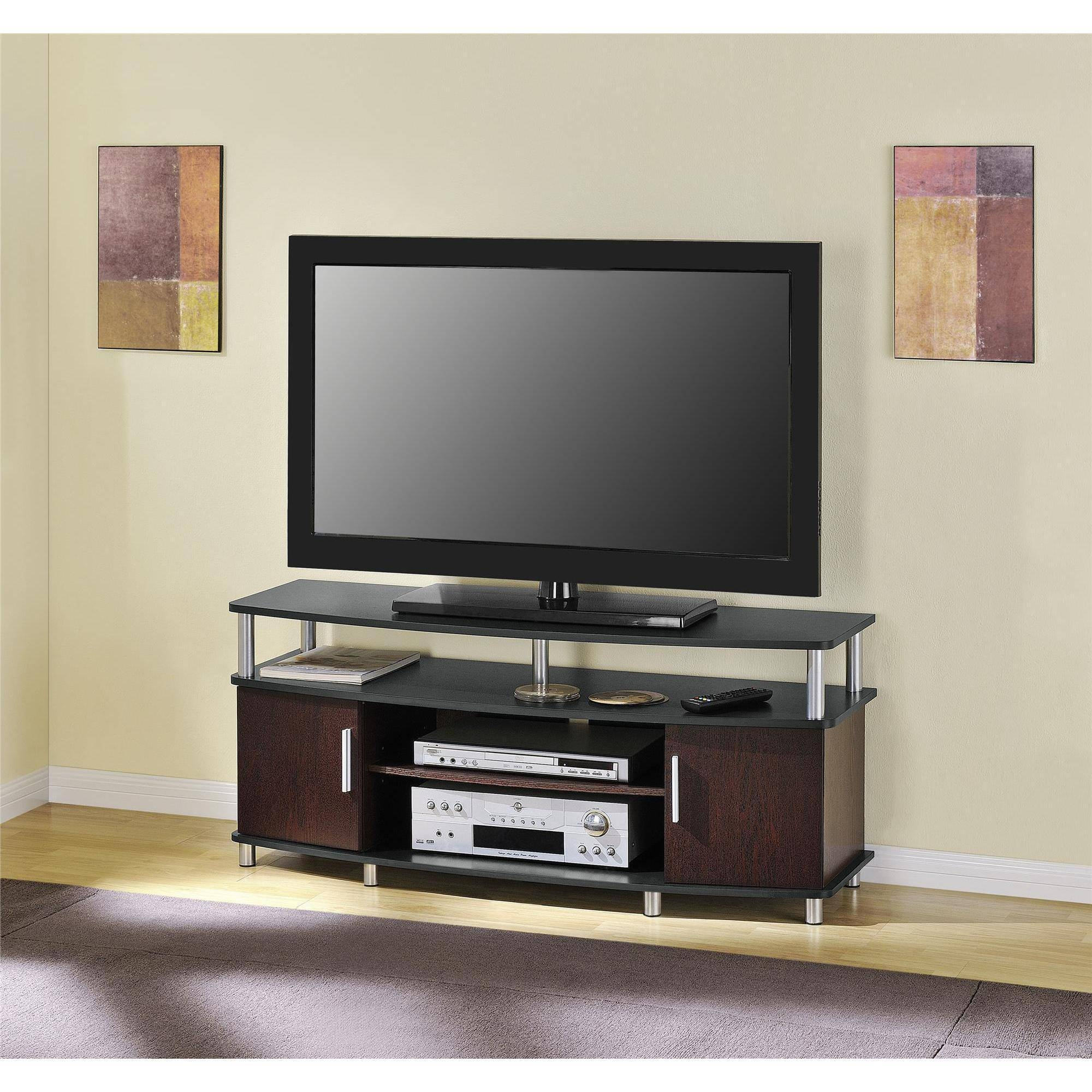 Carson Tv Stand For Tvs Up To 50 Multiple Finishes Walmart With Tv Bookcase Combination (#4 of 15)