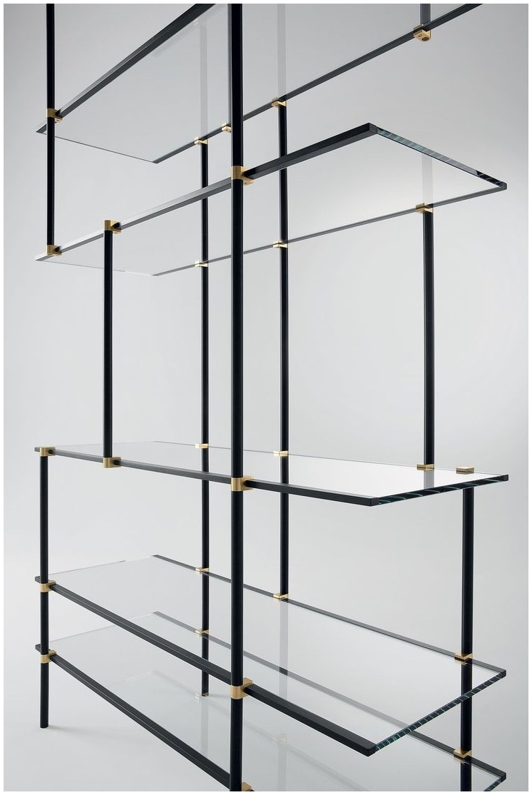 Ceiling Suspended Glass Shelf Elements Of Design Claremont Satin Regarding Hanging Glass Shelves Systems (View 2 of 12)