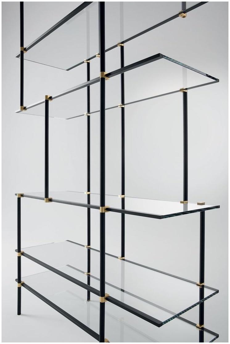 Ceiling Suspended Glass Shelf Elements Of Design Claremont Satin Regarding Hanging Glass Shelves Systems (#2 of 12)