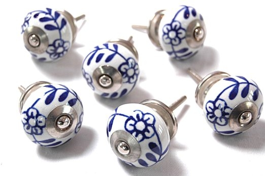 Ceramic Cabinet Knobs 12 Door Knobs Grey U0026 White Hand Painted For Porcelain Cupboard Knobs (View 12 of 15)