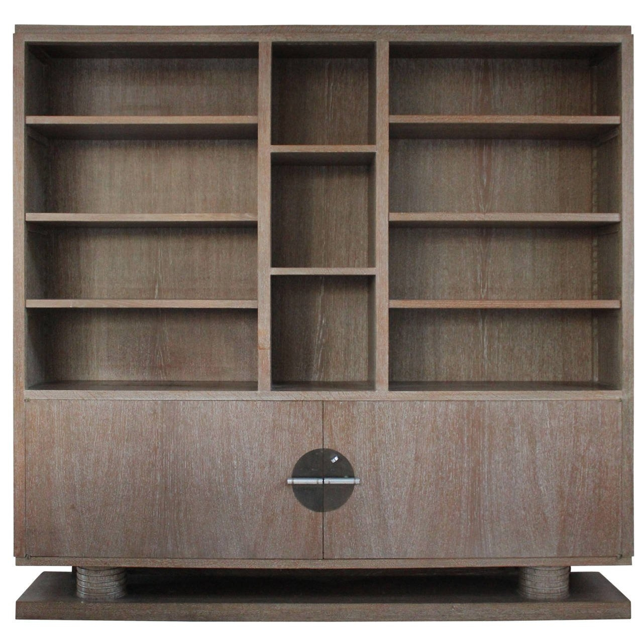 Cerused Oak Bookcaseshelving Unit France 1930s At 1stdibs Regarding Oak Bookcase (#3 of 8)