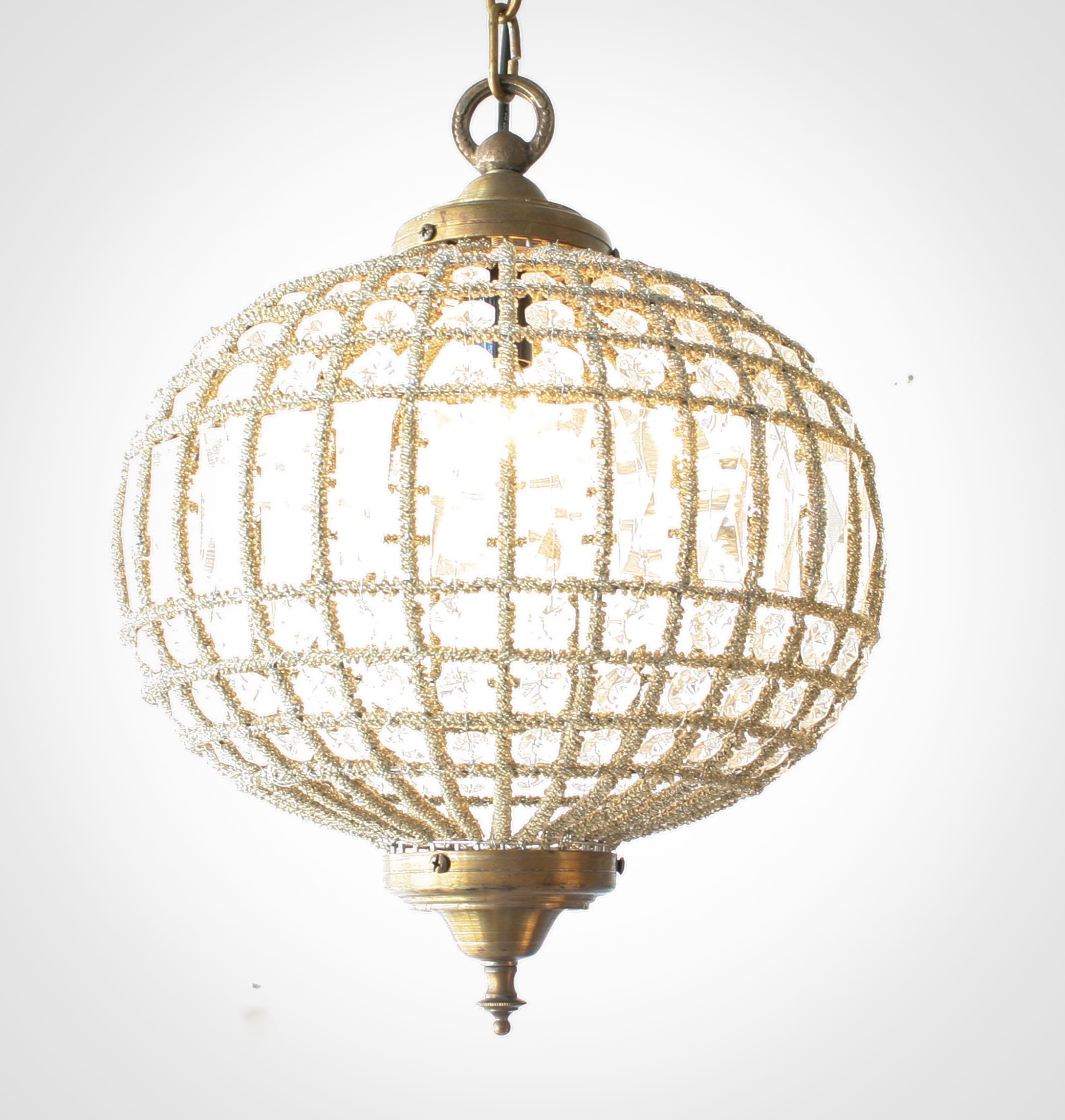 Popular Photo of Crystal Globe Chandelier