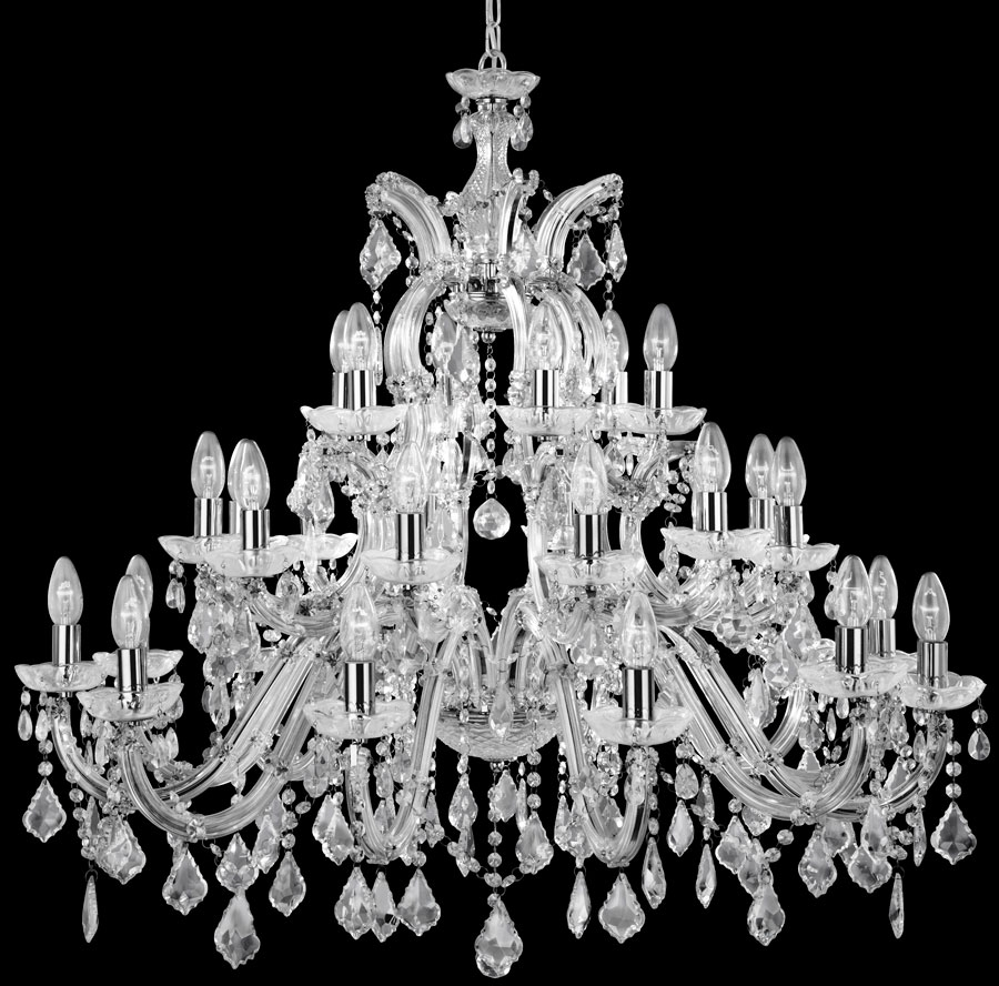 Chandelier Awesome Large Crystal Chandelier Large Round Crystal Pertaining To Big Crystal Chandelier (#4 of 12)
