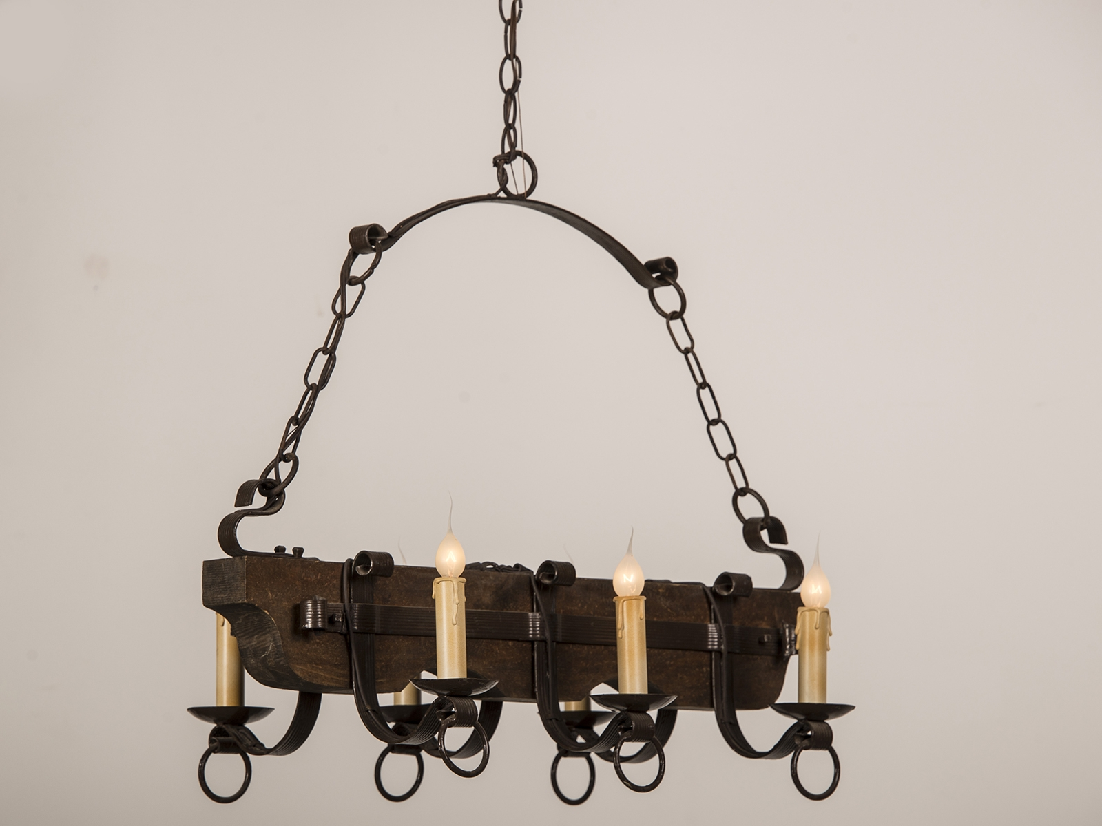 Chandelier Chandelier Black Rod Iron Excellent Photo Inspirations For Modern Wrought Iron Chandeliers (#5 of 12)