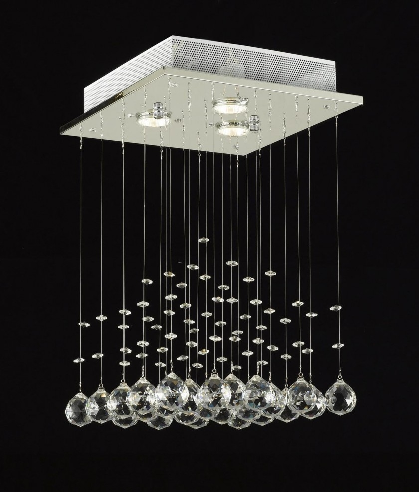 Chandelier Chandelier Sphere Style Crystal Glass Globe Inside Long Hanging Chandeliers (#4 of 12)