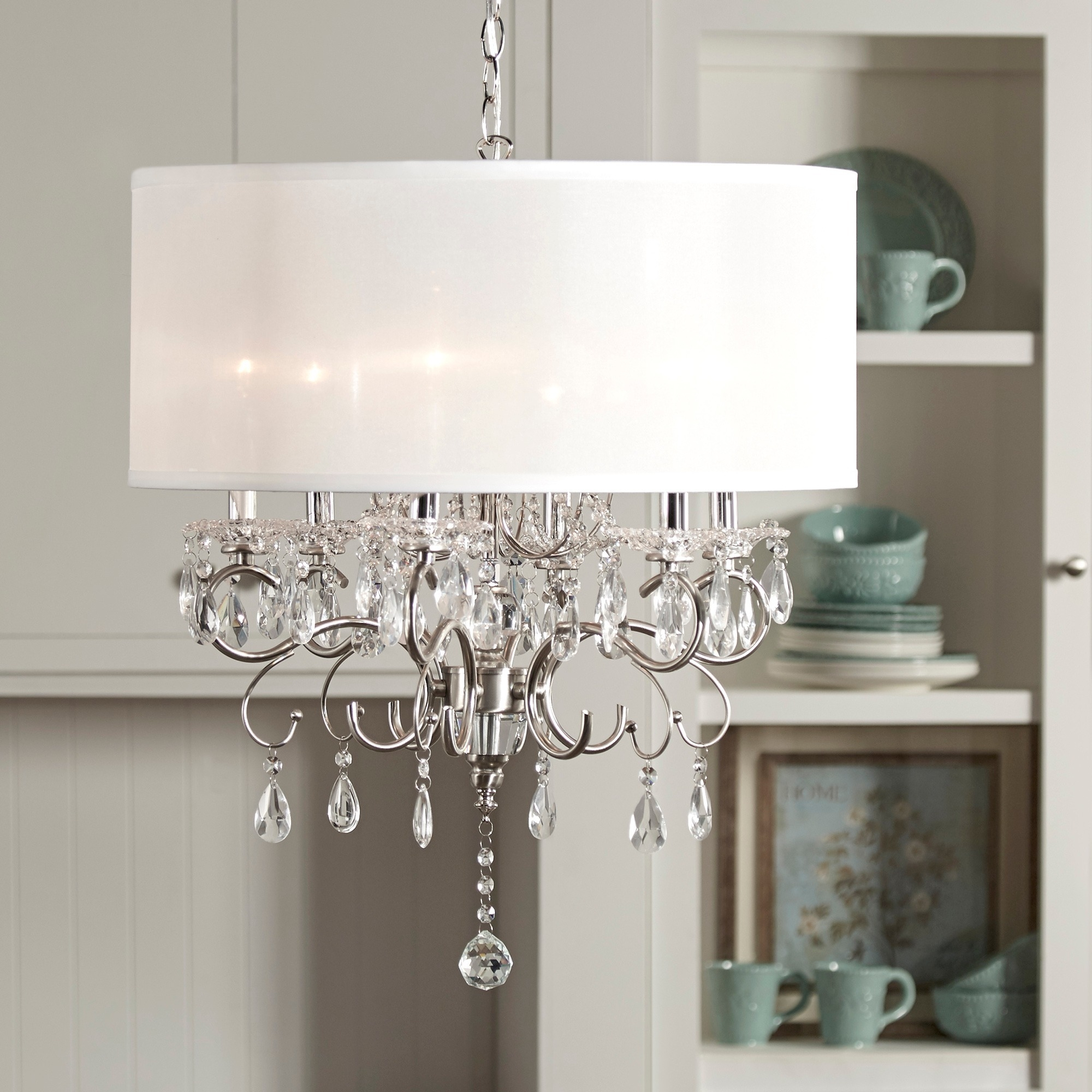 12 of Cream Crystal Chandelier