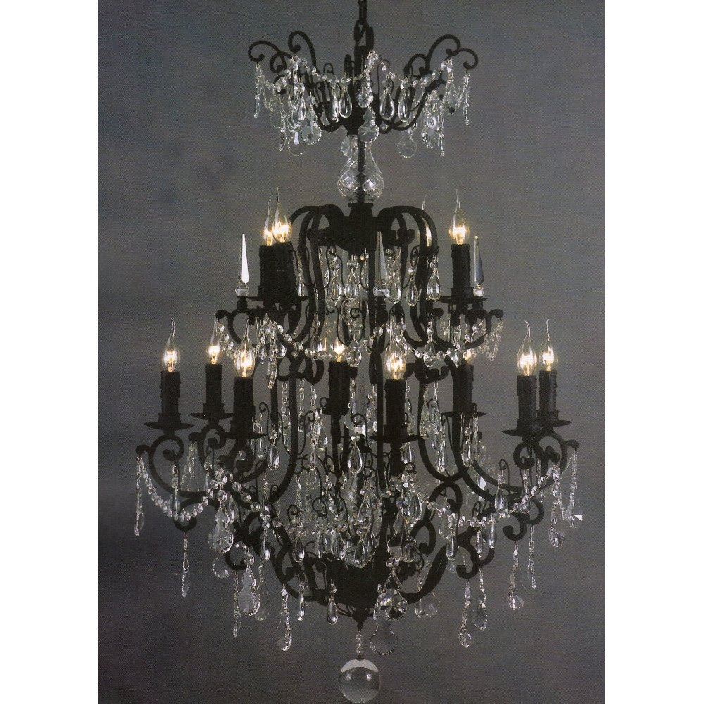 Chandelier Crystal Chandelier Black Friday Lighting Saleblack Regarding Large Black Chandelier (#5 of 12)