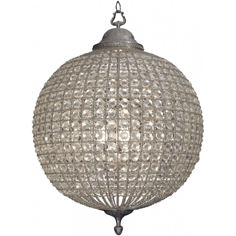 Chandelier Crystal Globe Chandelier Beautiful Modern Pendant Lamp In Crystal Globe Chandelier (#5 of 12)