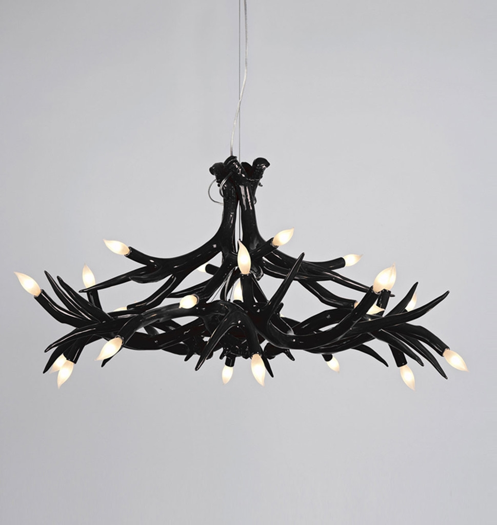 Chandelier Glamorous Mini Black Chandelier Miniature Chandelier Intended For Black Contemporary Chandelier (#6 of 12)