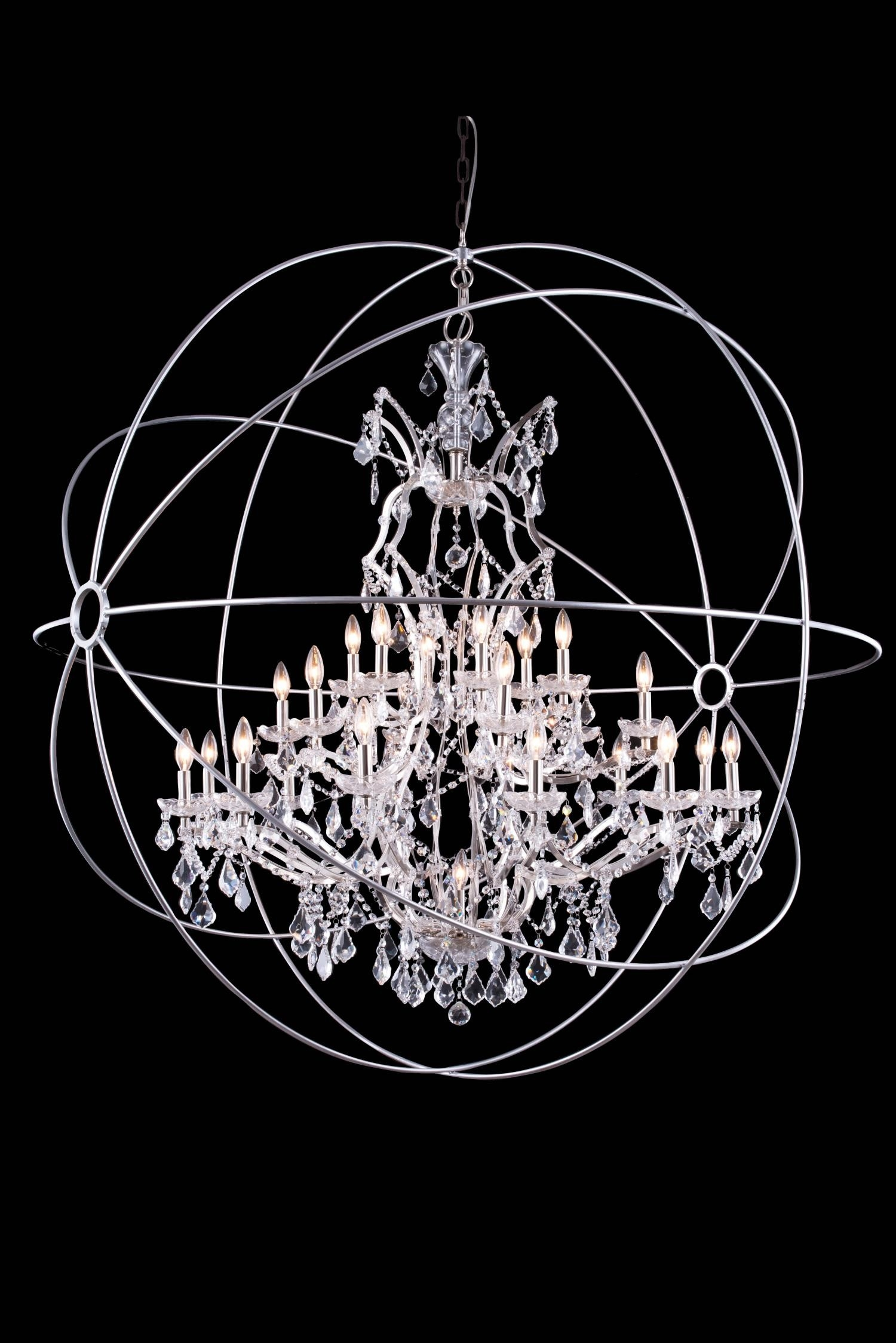 Chandelier Inspiring Extra Large Orb Chandelier Large Orbit Intended For Extra Large Crystal Chandeliers (#1 of 12)