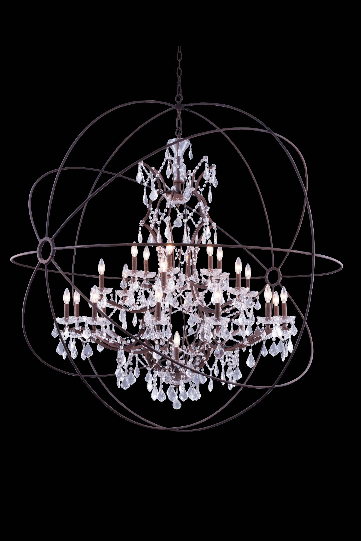 Chandelier Inspiring Extra Large Orb Chandelier Large Orbit Regarding Extra Large Crystal Chandeliers (#2 of 12)