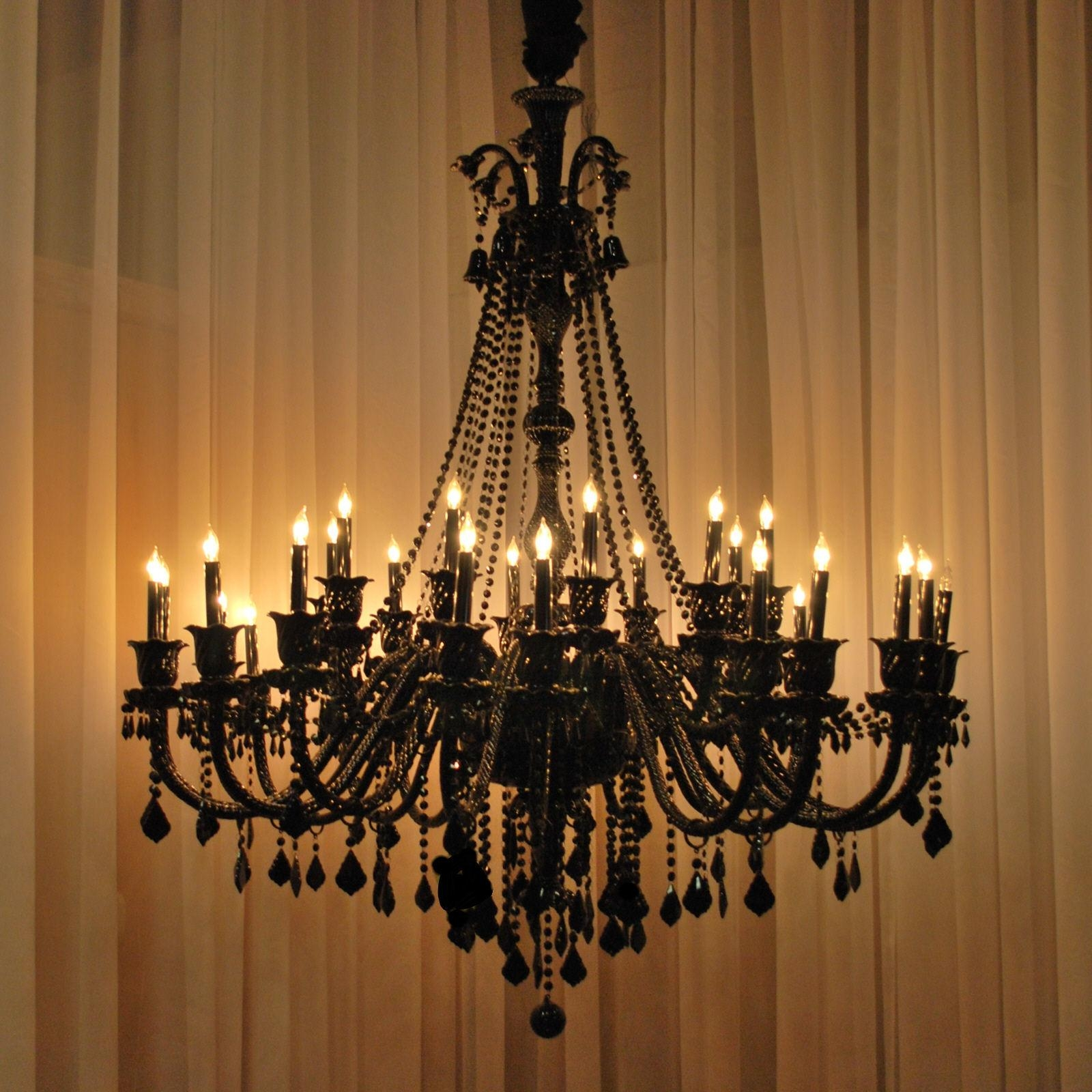Popular Photo of Large Black Chandelier