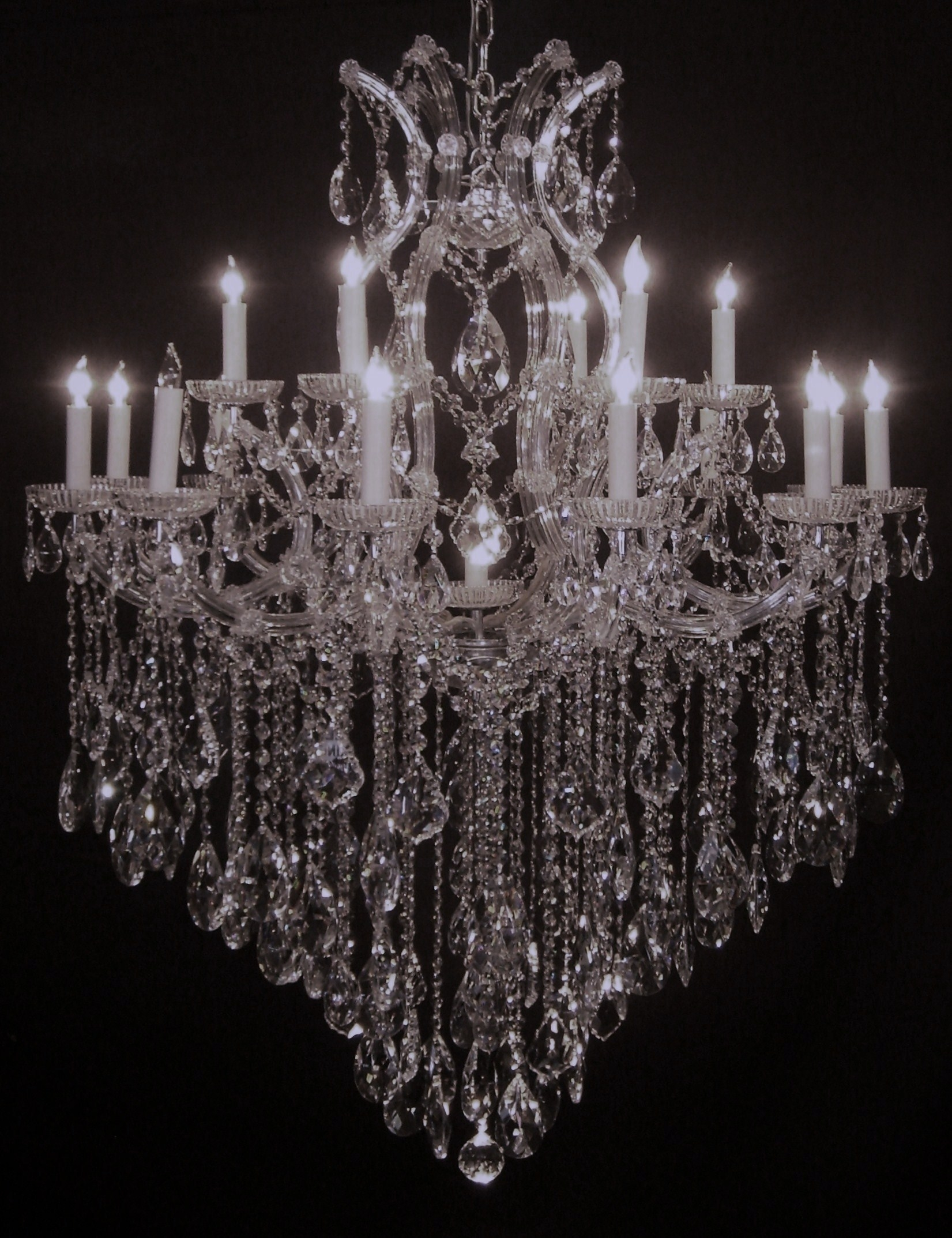 Chandelier Stunning Big Crystalandelier Picture Ideas Stock Photo Pertaining To Big Crystal Chandelier (View 11 of 12)