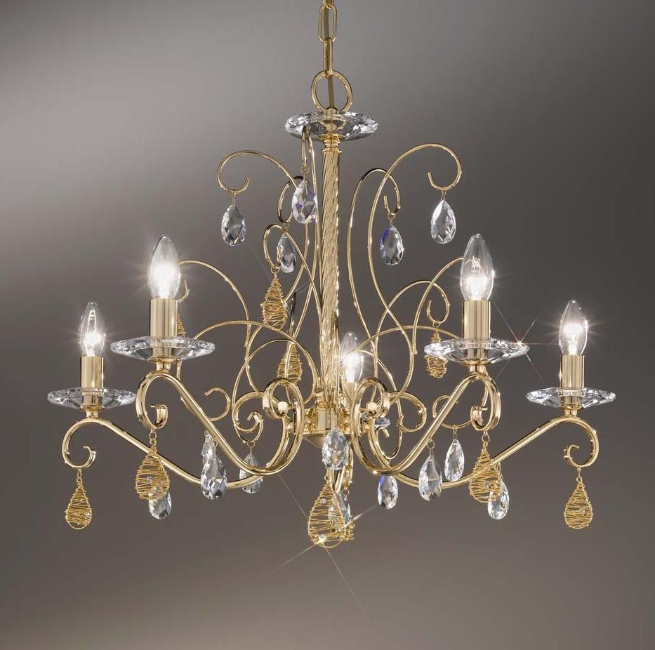 Chandelier Stunning Gold Chandeliers Cheap Gold Chandelier Gold Throughout Crystal Gold Chandelier (#5 of 12)