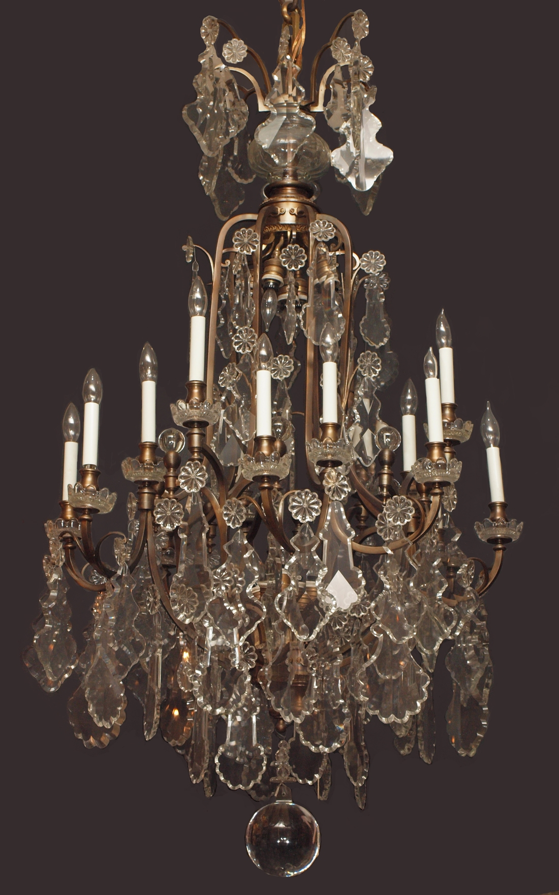 Chandeliers Baccarat Crystal Intended For Vintage French Chandeliers (#5 of 12)