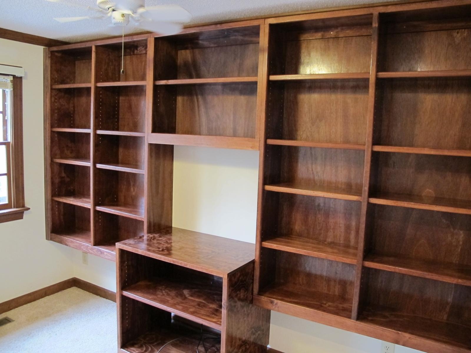 Photo of bookshelf handmade