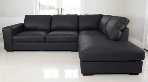Cheap Chesterfield Sofas Uk Quality Fabric Linen Chesterfield Pertaining To Large Black Leather Corner Sofas (#5 of 15)