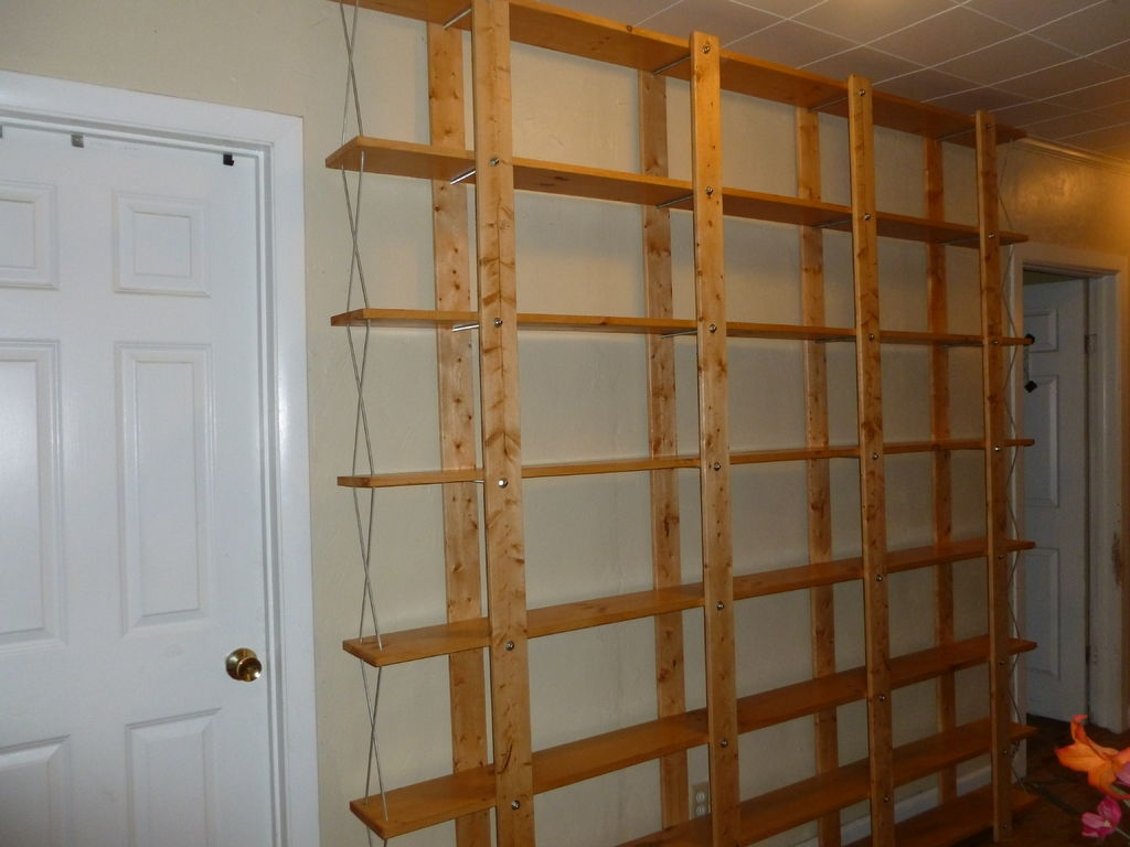 Cheap Easy Low Waste Bookshelf Plans 5 Steps With Pictures Regarding Backless Bookshelves (#11 of 15)