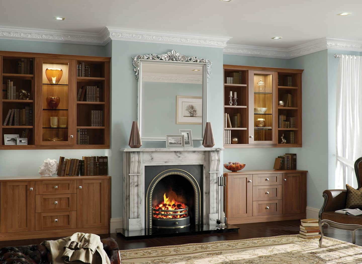Popular Photo of Fitted Cabinets Living Room
