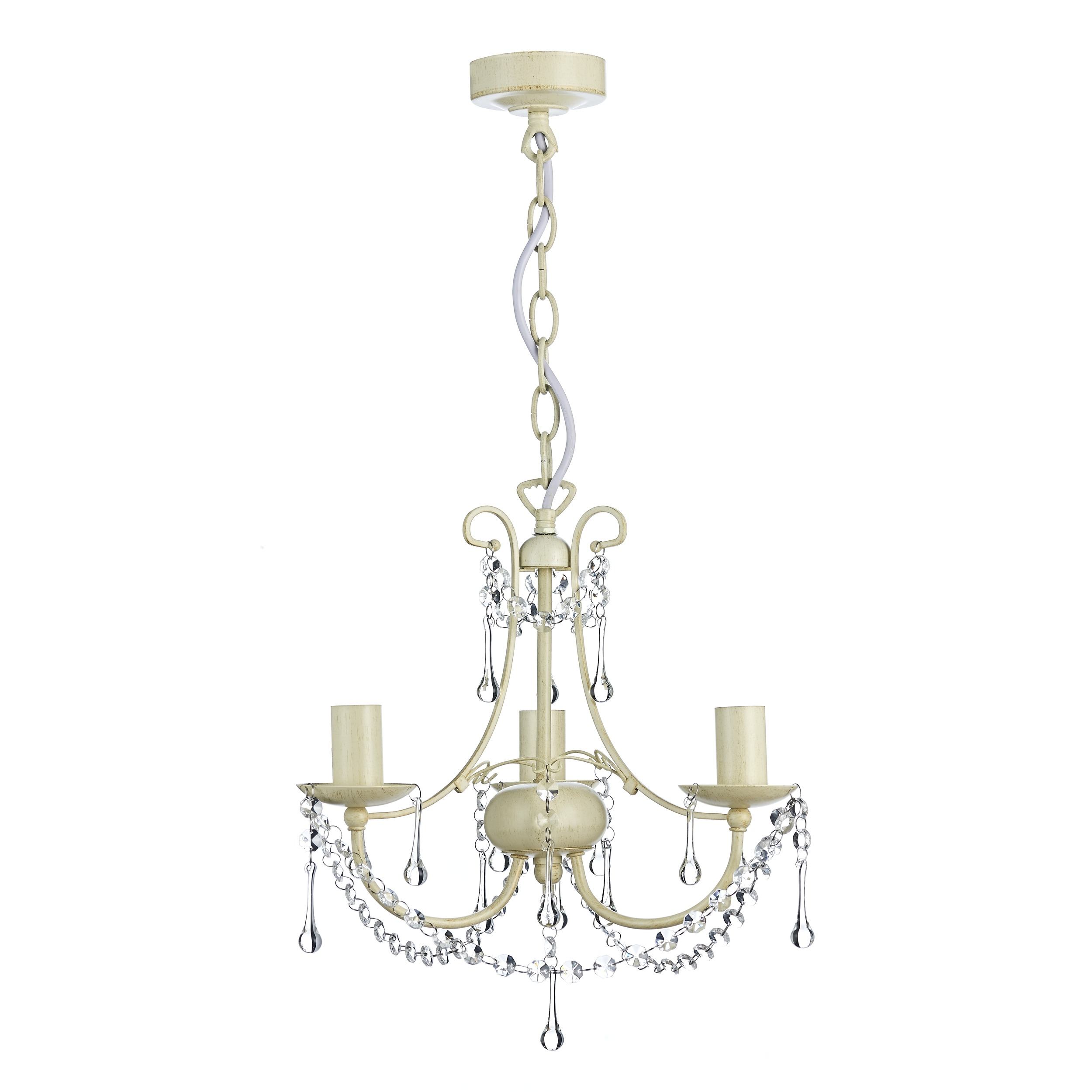 Chella Cream 3 Light Chandelier At Laura Ashley With Regard To Cream Chandelier (#3 of 12)