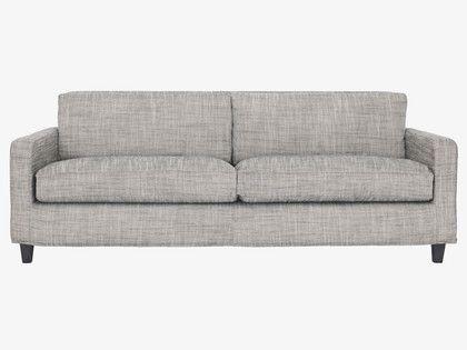 Chester Black White Italian Woven Fabric 3 Seater Sofa Dark Regarding White Fabric Sofas (#4 of 15)